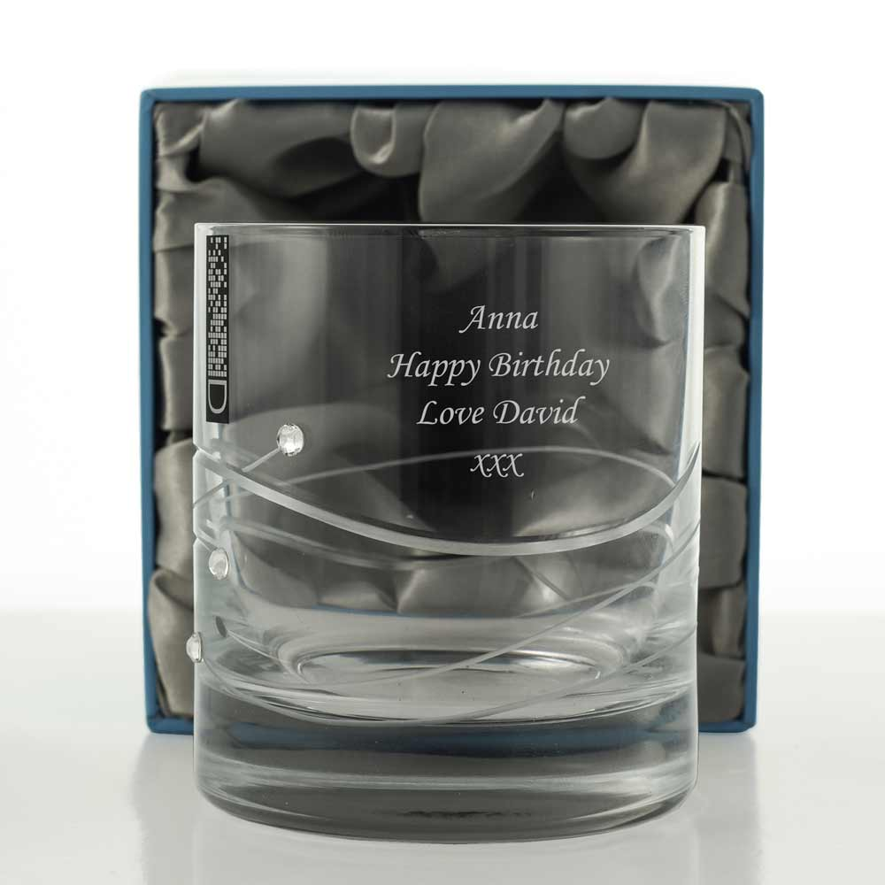 Personalised Swarovski Crystal Whiskey Glass