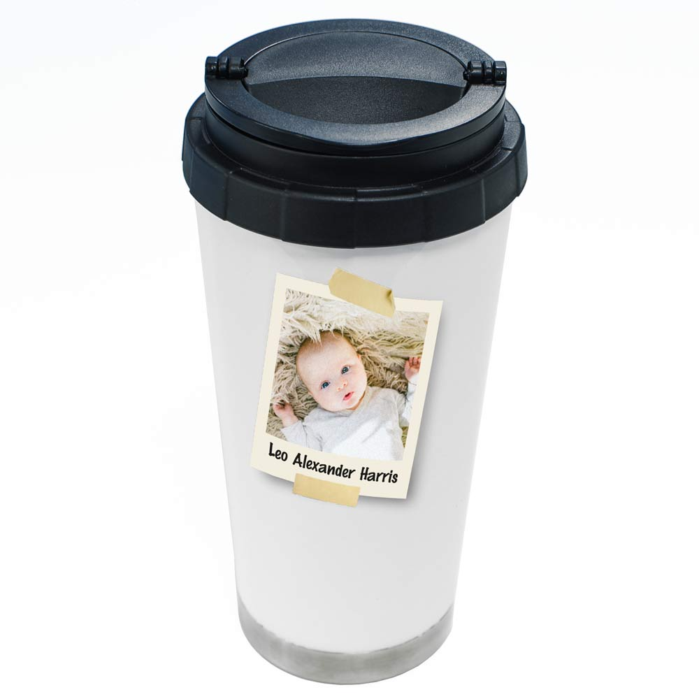 Personalised 16oz Thermal Tumbler - Polaroid - Click Image to Close