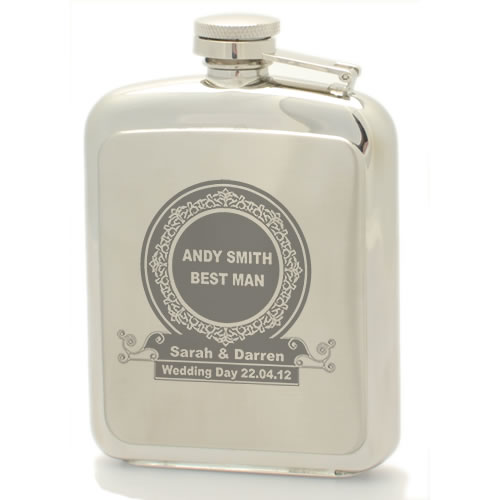 Personalised Hip Flask Wedding Gift For The Best Man And Ushers