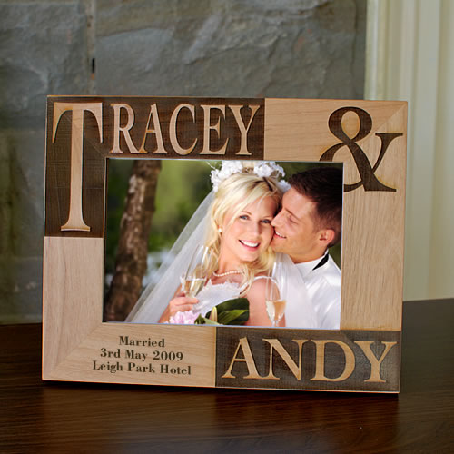 Personalized Wedding Photo Frames Uk : Bride And Groom Personalised Photo Frame Picture Frame 7x5