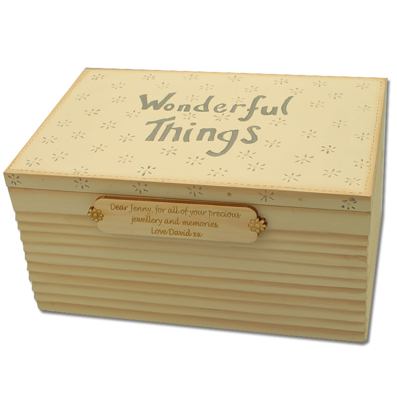 Wonderful Things Personalised Jewellery Box