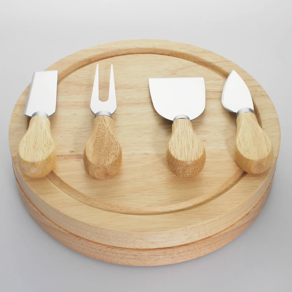 Wooden Cheese Boards ~ Personalised wooden cheese board set laser engraved by