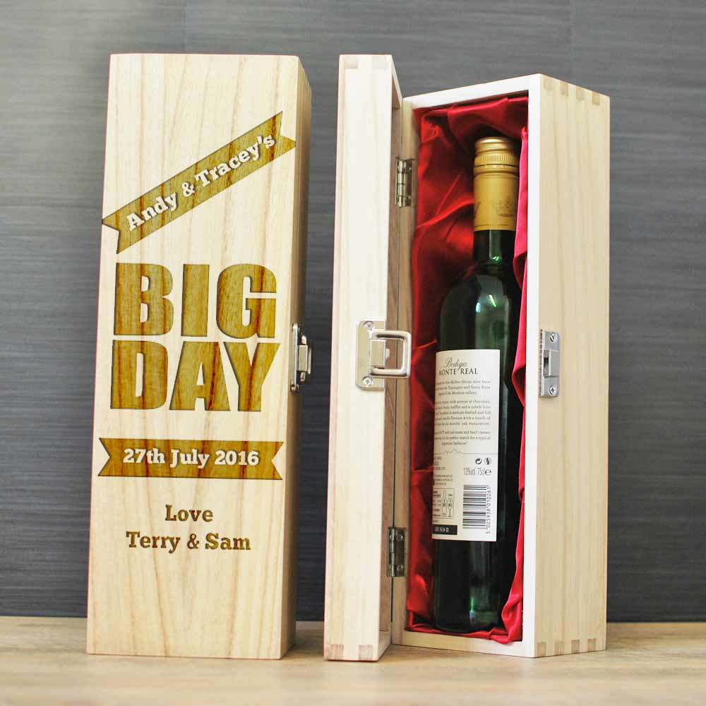 Wedding Gift Wine Box Uk : ... Gifts For Bride And Groom / Personalised Wooden Wine Box Wedding Gift