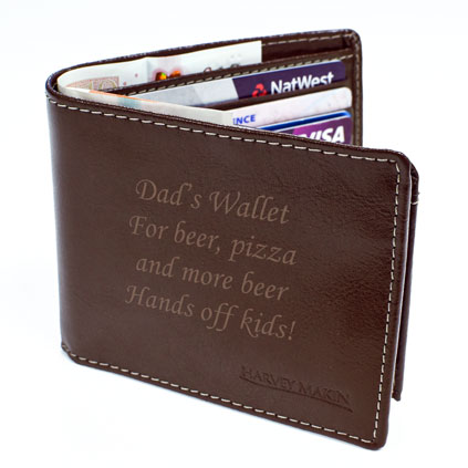 Personalised Wallet Mens Gift