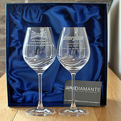 logo engraved wine glasses