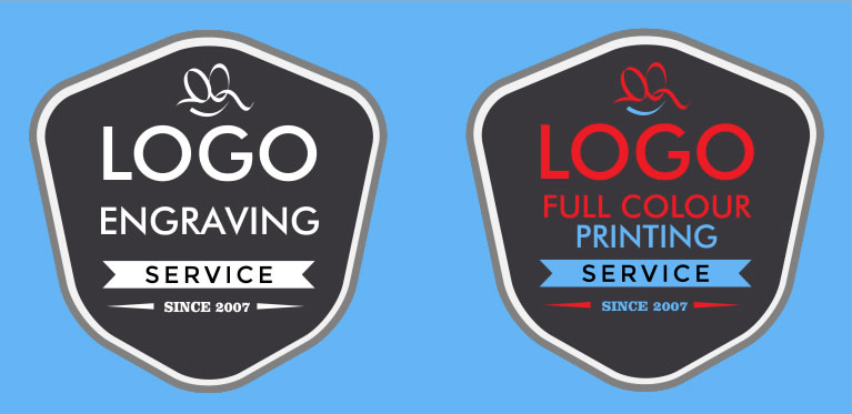 Full Colour Logo Engraving And Printing Services