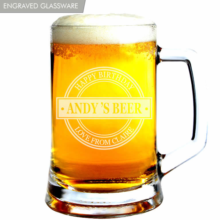 Personalised Beer Glasses