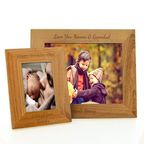 Personalised Wedding Photo Frames Uk : ... Weddings Wedding Photo Frames Personalised Engraved Maple Photo Frame