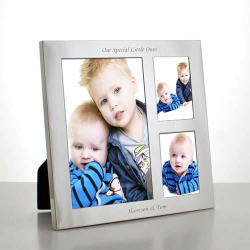 personalised silver collage frame