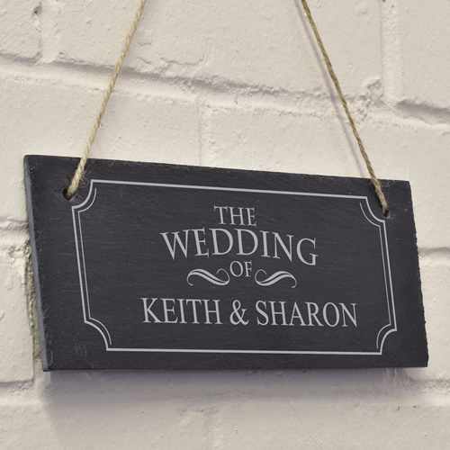 Home Weddings Gifts For Bride And Groom Personalised Wedding Day Slate ...
