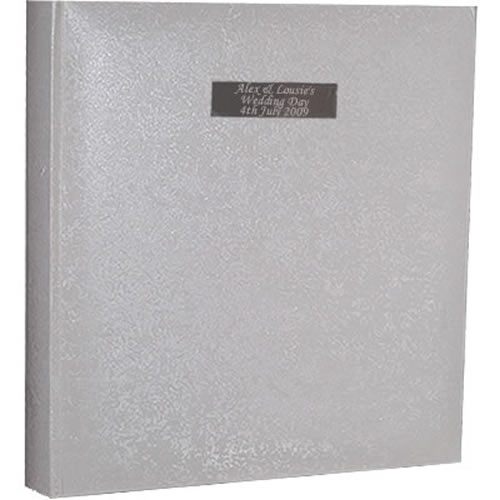 Personalised Wedding Photo Albums: Personalised Wedding Photo Album With Tissue Interleave