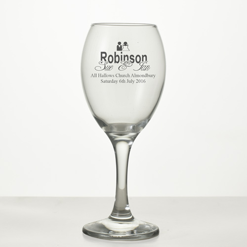 Personalised Wedding Wine Glass, Engraved Wedding Glasses Exclusive To ...