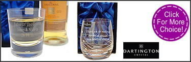 click for more engraved whisky glasses