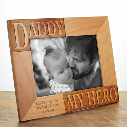 Personalised Wooden Photo Frames Laser Engraved Next Day Delivery