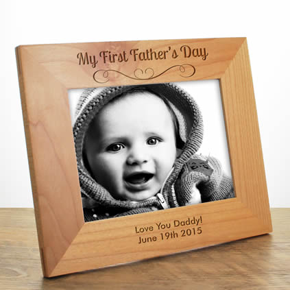 my first fathers day photo frame