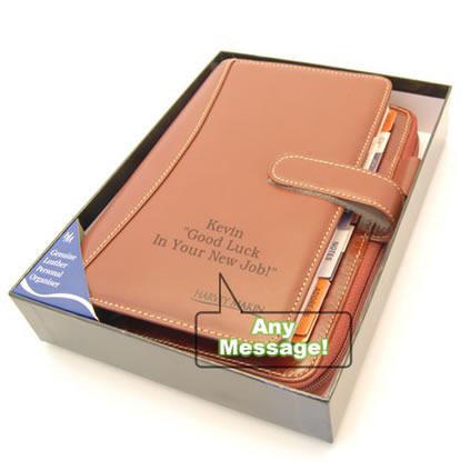Leather Personal Planner Organiser Personalised Dg10155