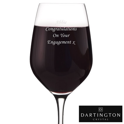 Red Wine Glass Personalised Dartington Crystal