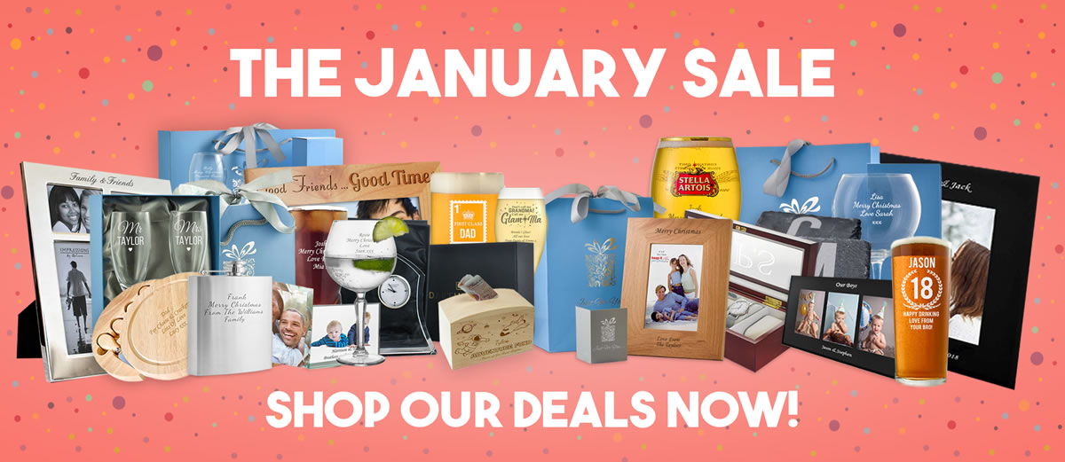 January Sale 2018 Personalised Gifts
