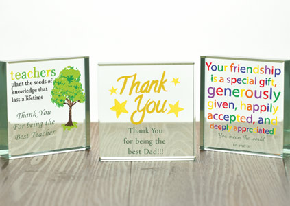 Personalised Glass Tokens