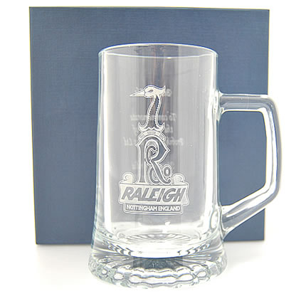 Engraved pint glass with logo