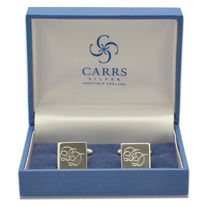 Logo engraved cufflinks