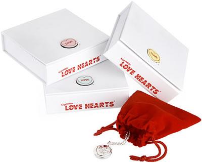 Love Heart Sweets. love heart pendant in gift box
