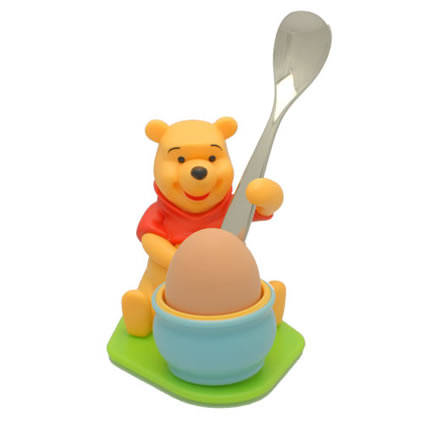 Personalised Winnie The Pooh Egg Cup And Spoon